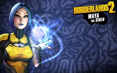 Maya the Siren casting a spell - Borderlands 2 wallpaper
