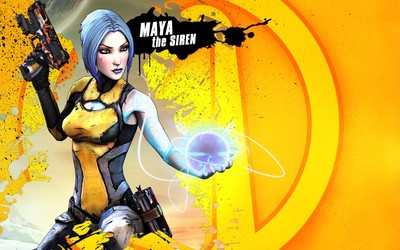 Maya the Siren with a gun - Borderlands 2 wallpaper