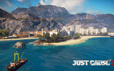Medici beach in Just Cause 3 wallpaper