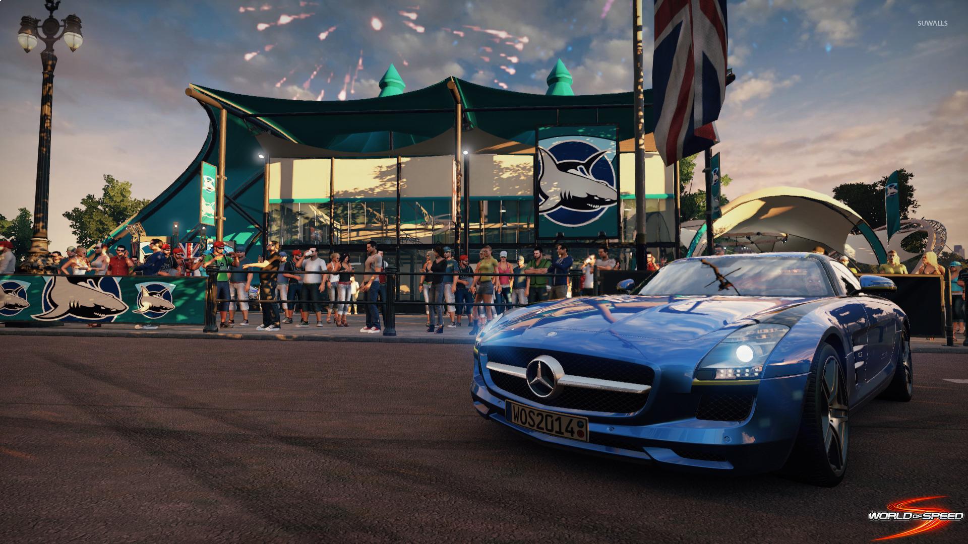 Mercedes benz sls amg world of speed wallpaper game for Mercedes benz games
