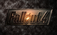 Metallic Fallout 4 logo on stone wallpaper 3840x2160 jpg