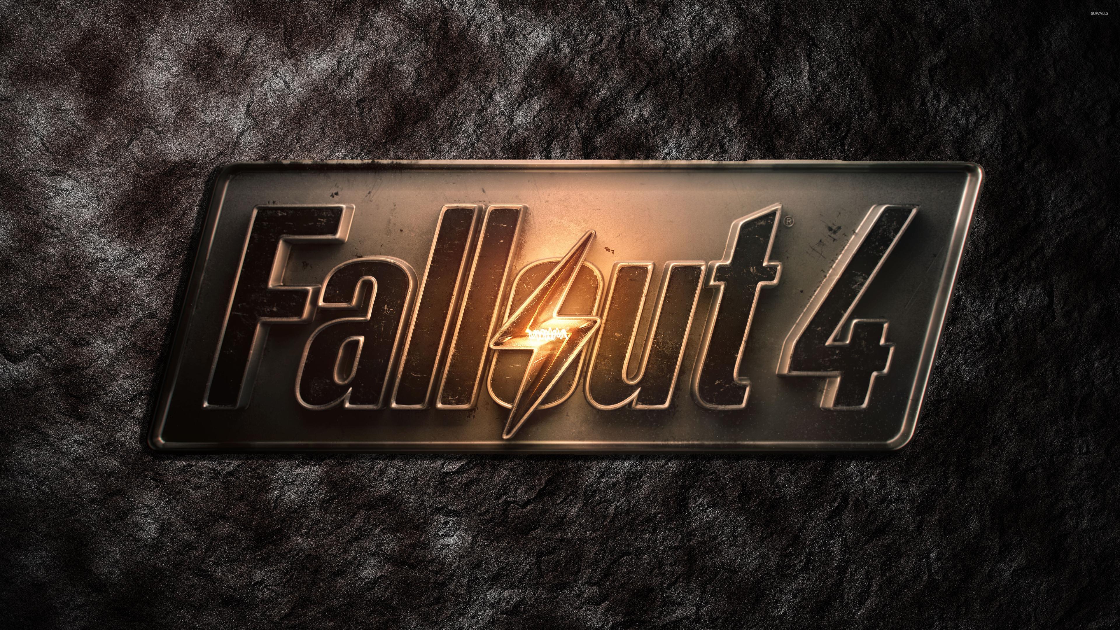 Cool Wallpaper Logo Fallout 4 - metallic-fallout-4-logo-on-stone-50134-3840x2160  You Should Have_732111.jpg