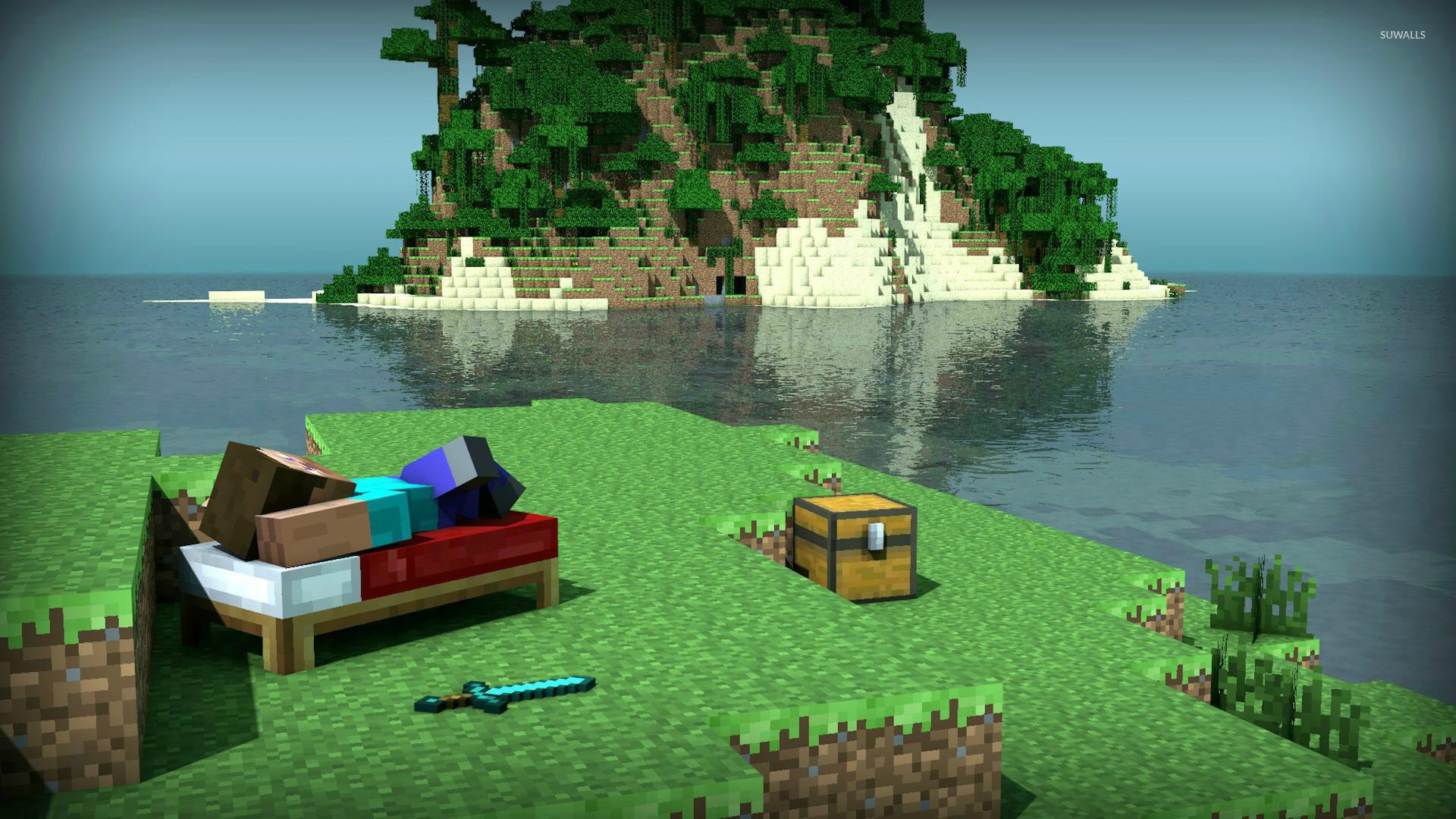 minecraft island wallpaper 1080p - photo #16