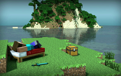 Minecraft Island wallpaper