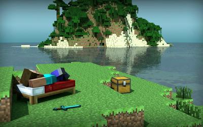Minecraft Island wallpaper