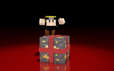 Minecraft present wallpaper