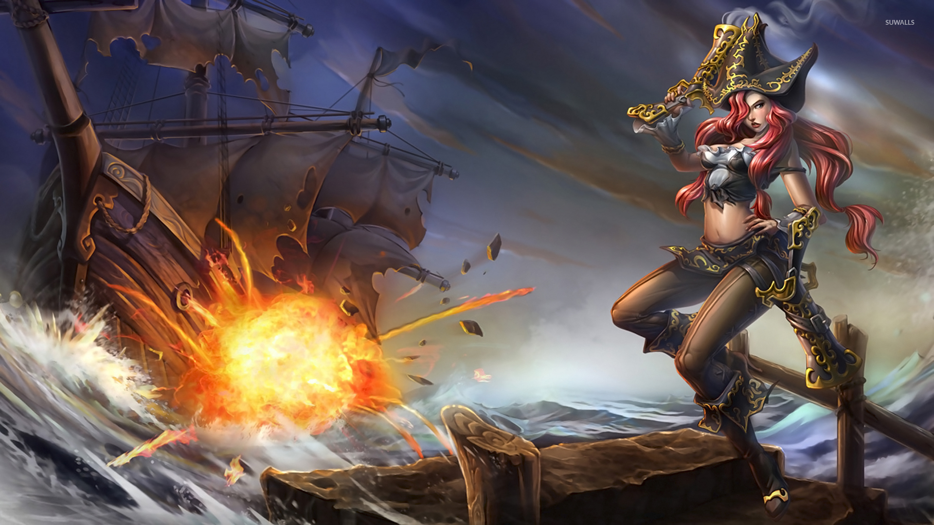 Miss Fortune The Bounty Hunter League Of Legends Wallpaper