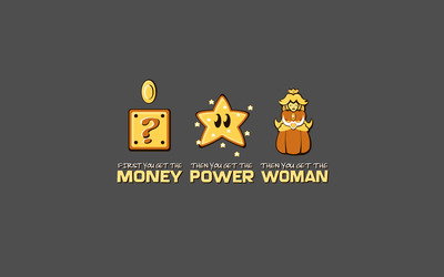 Money, power, woman wallpaper