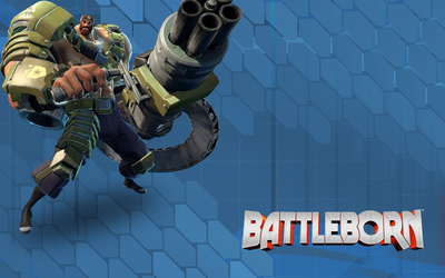 Montana with his Gatling gun - Battleborn wallpaper