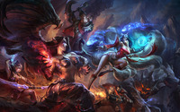 Morgana Vs Ahri - League of Legends wallpaper 1920x1080 jpg