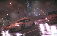 Race on the wet roads in Need for Speed wallpaper 3840x2160 jpg
