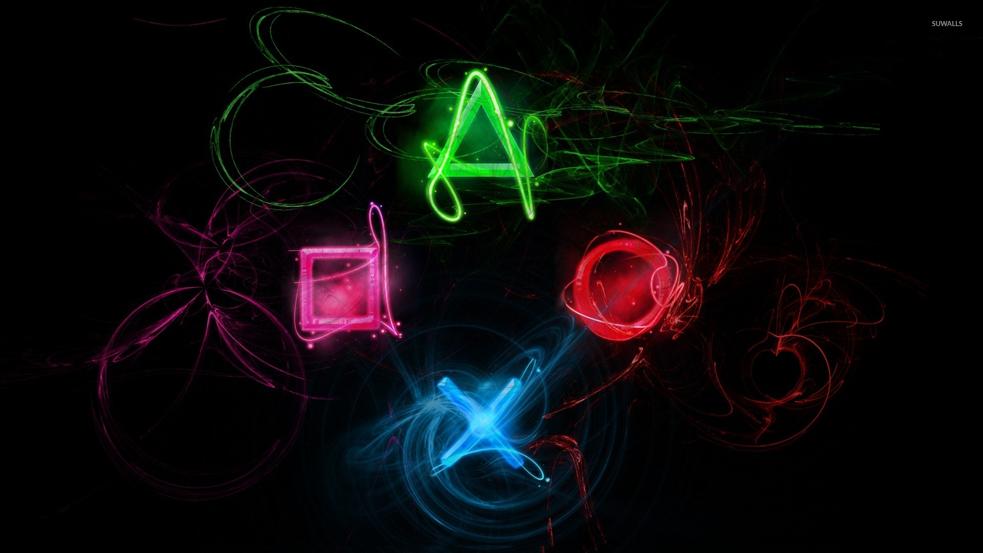 Neon Playstation Buttons Wallpaper Game Wallpapers 20963