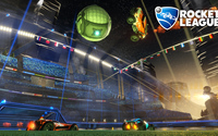 Night game in Rocket League wallpaper 1920x1080 jpg