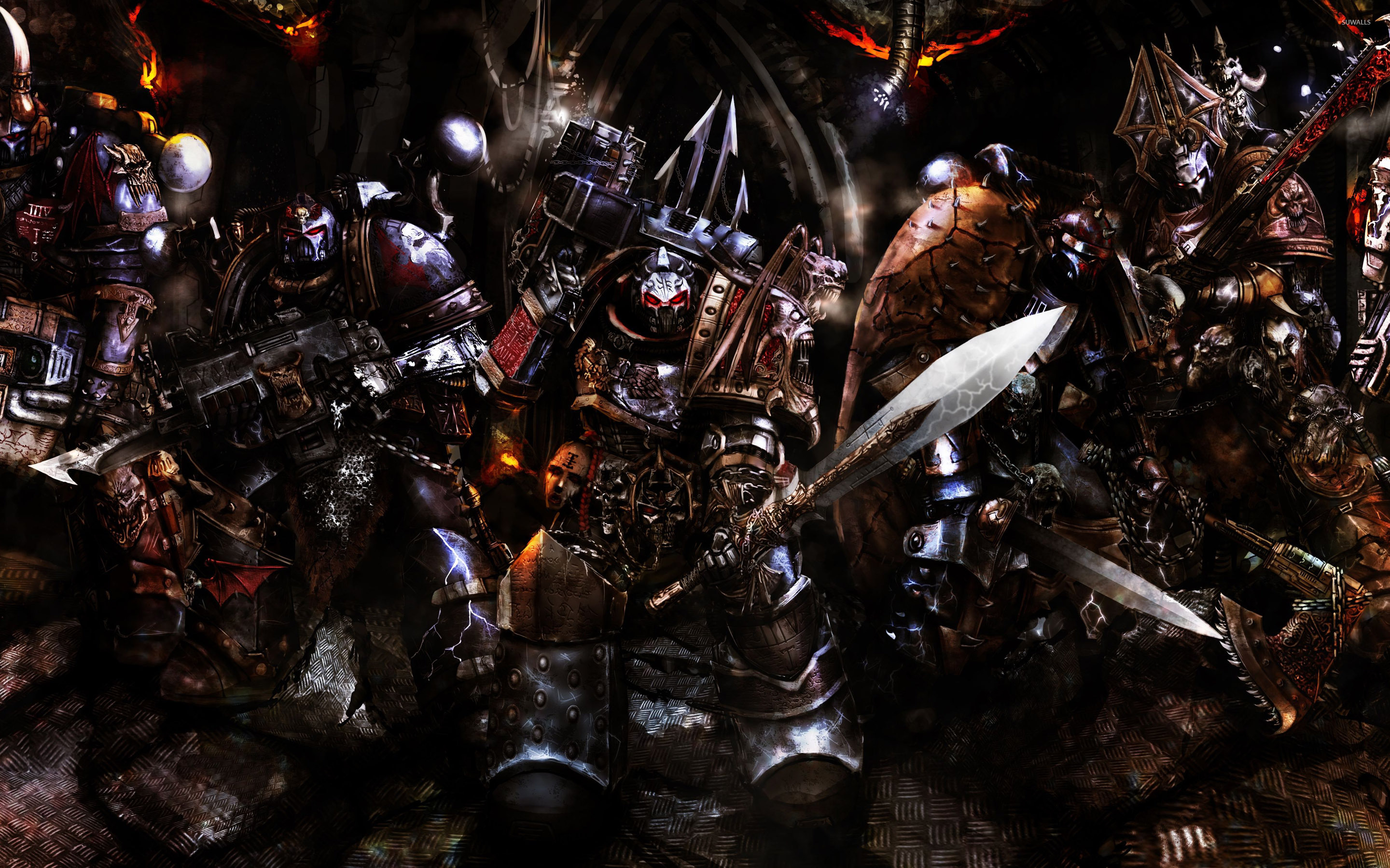 night lords warhammer 40 000 wallpaper game wallpapers