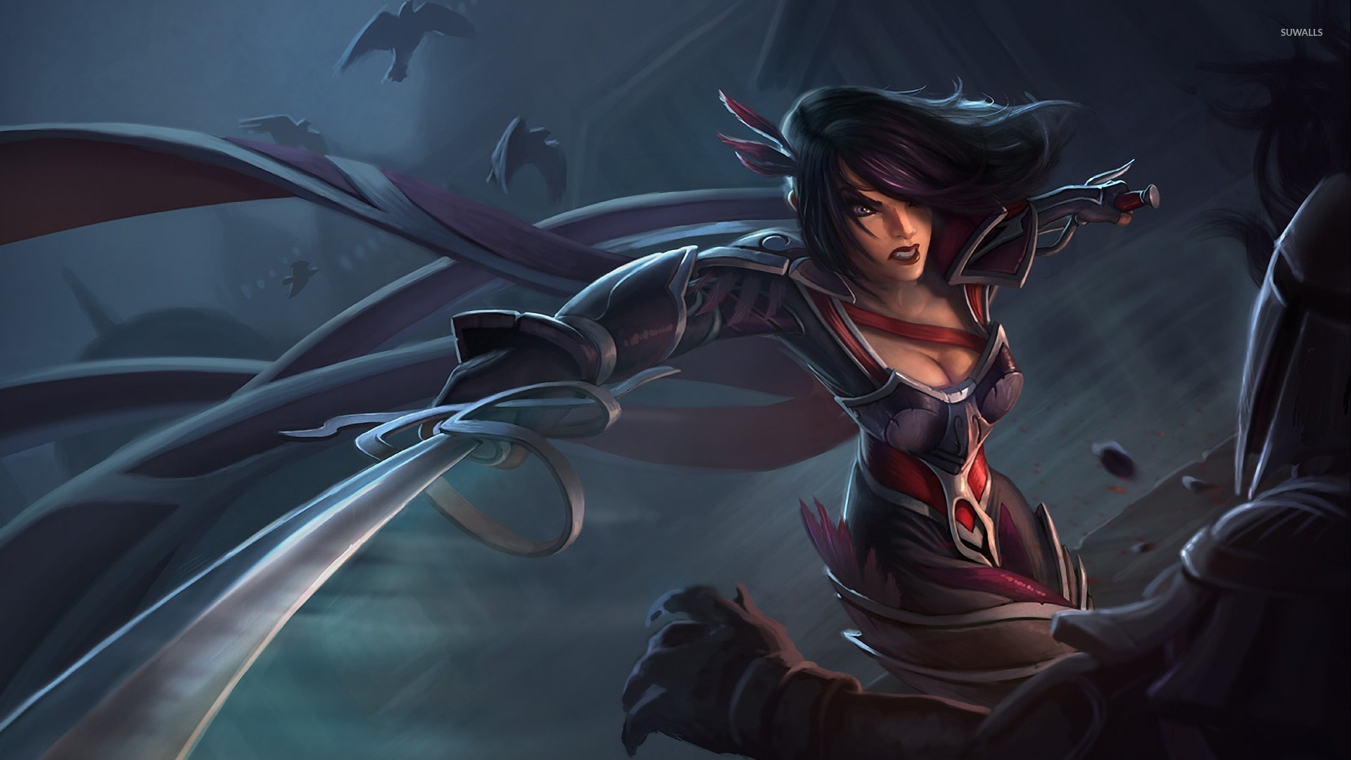 Nightraven Fiora League Of Legends Wallpaper Game Wallpapers