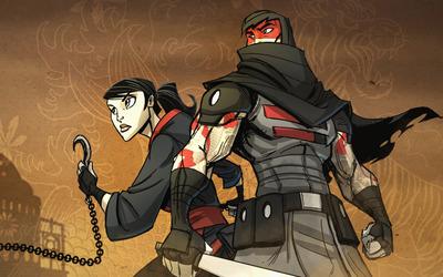 Ora and Marked Ninja - Mark of the Ninja wallpaper