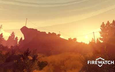 Orange sunset in Firewatch [2] wallpaper