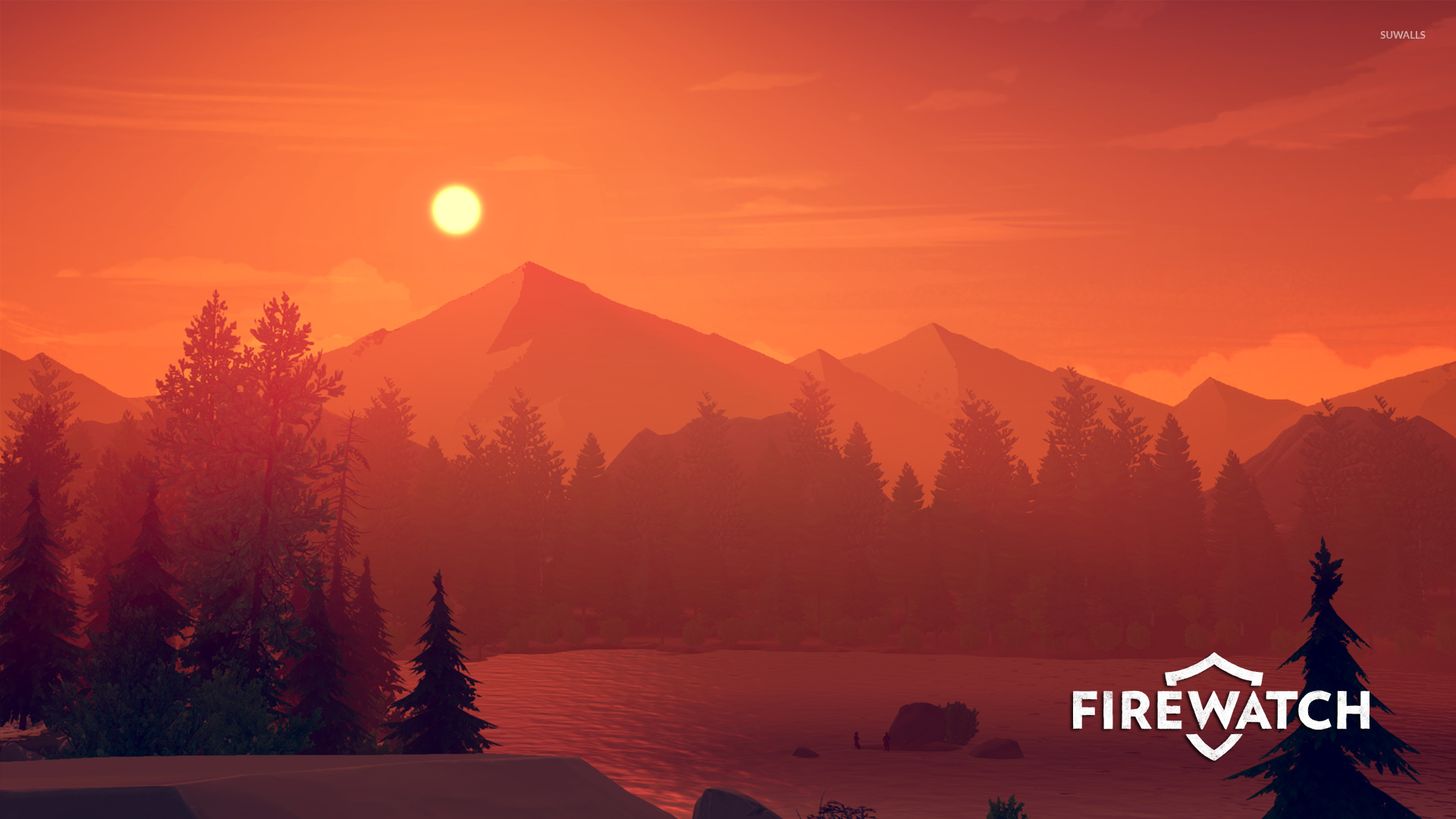 The View From The Fire Lookout Tower In Firewatch Wallpaper Game