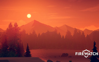 Orange sunset over the lake - Firewatch wallpaper 1920x1080 jpg