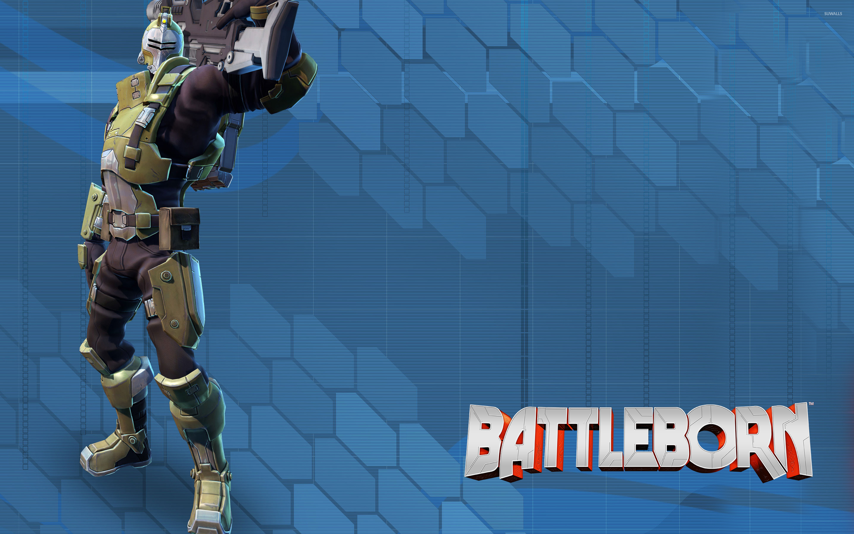 Oscar Mike With His Assault Rifle Battleborn Wallpaper Game Wallpapers 50112
