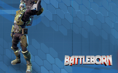 Oscar Mike with his assault rifle - Battleborn Wallpaper