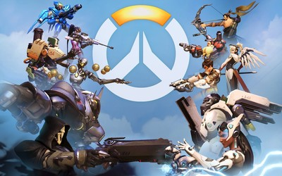 Overwatch characters facing each other Wallpaper