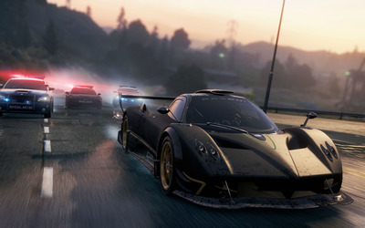 Pagani Zonda R chased in Need for Speed: Most Wanted wallpaper