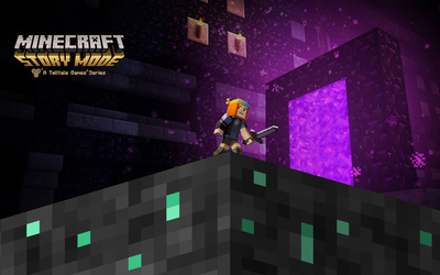 Petra in Jesse in Minecraft: Story Mode wallpaper