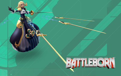 Pheobe with her rapiers - Battleborn wallpaper