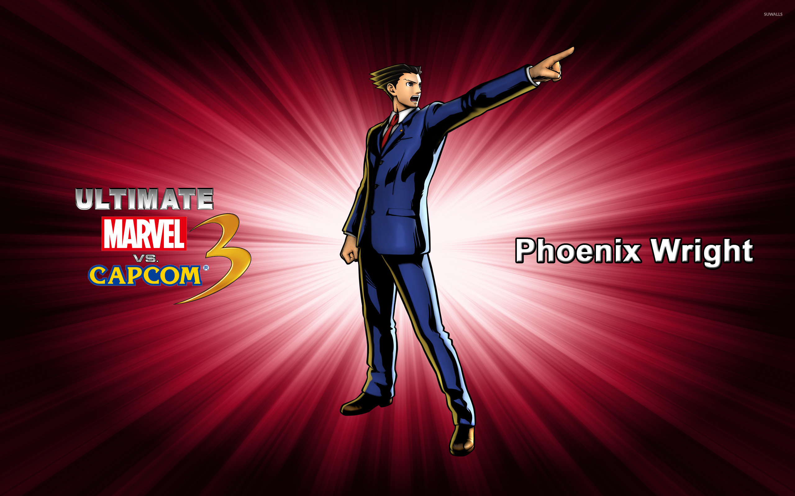 Phoenix Wright Ultimate Marvel Vs Capcom 3 Wallpaper