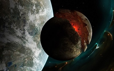 Planet crack in Dead Space wallpaper