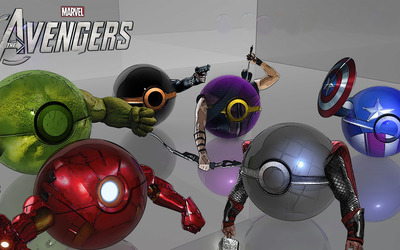Poke Ball Avengers wallpaper
