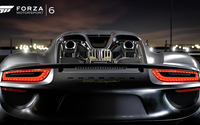 Back view of a Porsche 918 Spyder in Forza Motorsport 6 wallpaper 1920x1080 jpg
