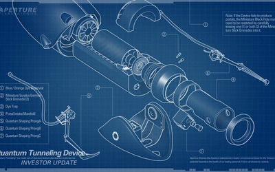 Portal gun blueprints wallpaper