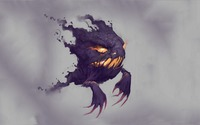 Purple smoky Haunter - Pokemon wallpaper 1920x1080 jpg