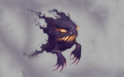 Purple smoky Haunter - Pokemon wallpaper