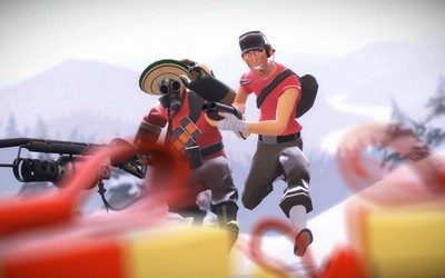 Pyro and Scout - Team Fortress 2 wallpaper