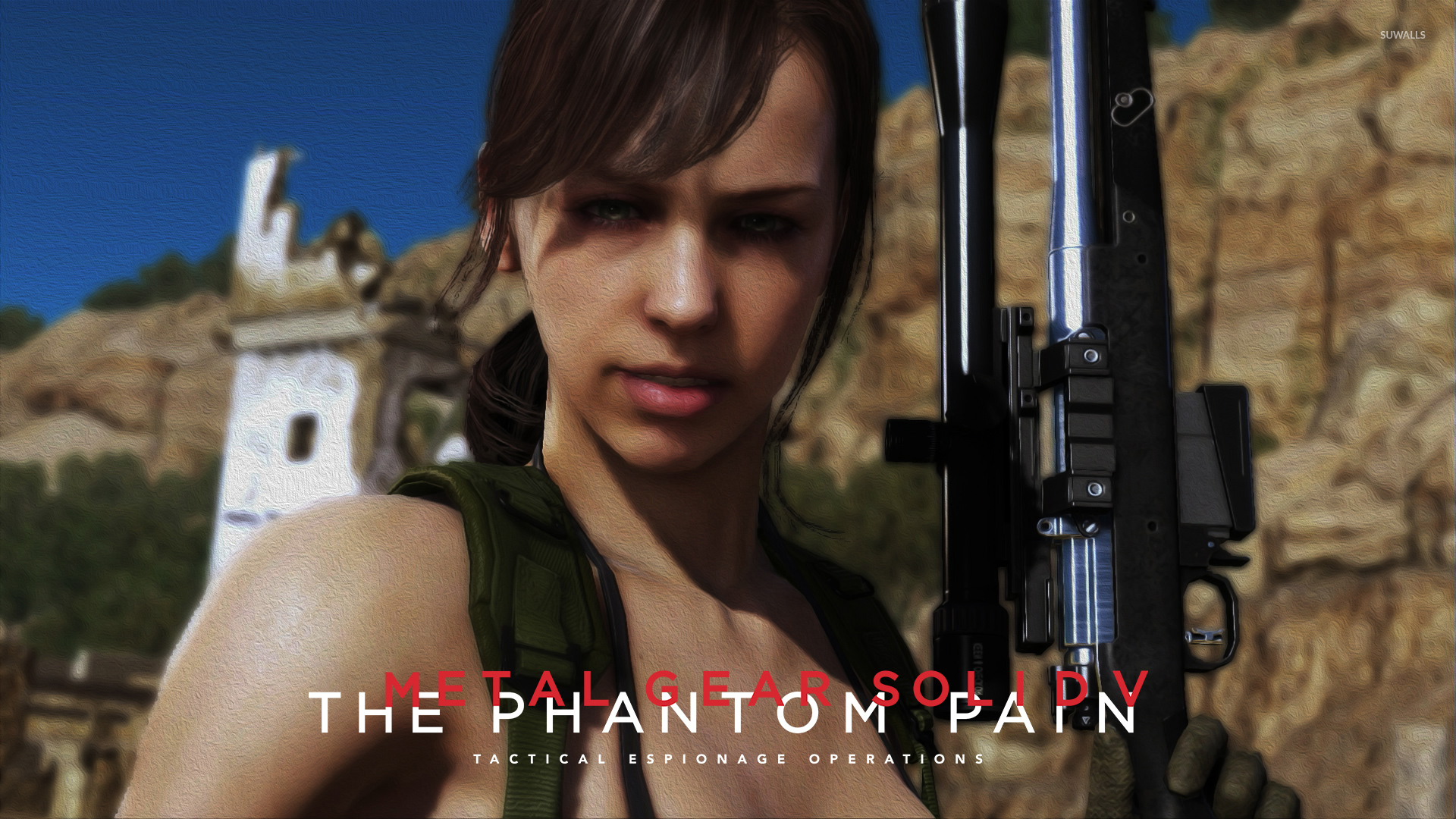 Quiet Metal Gear Solid V The Phantom Pain Wallpaper Game