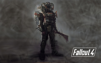 Raider in Fallout 4 wallpaper