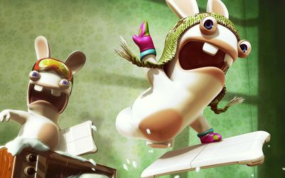 Rayman Raving Rabbids screaming wallpaper