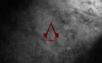 Red Assassin's Creed logo wallpaper 1920x1200 jpg