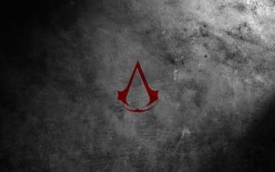 Red Assassin's Creed logo wallpaper