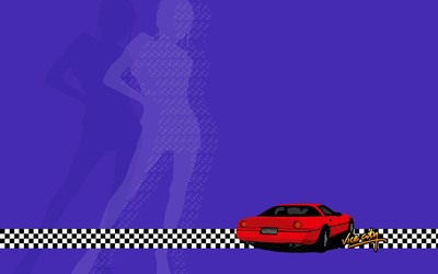 Red car in Grand Theft Auto: Vice City wallpaper