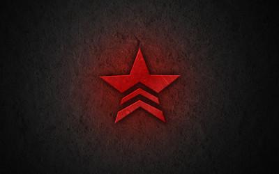 Red Mass Effect star logo wallpaper