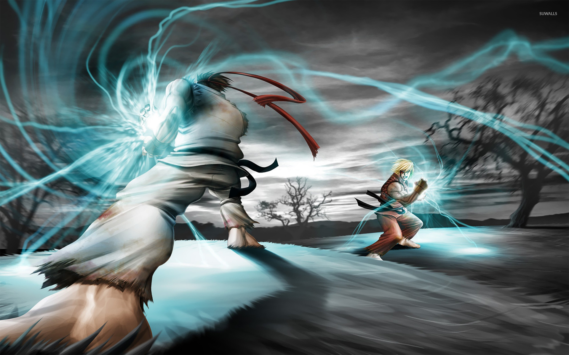 ryu and ken - street fighter wallpaper - game wallpapers - #17748