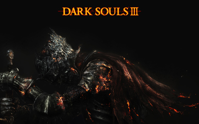 Sad knight in Dark Souls III wallpaper