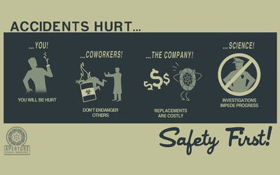 Safety first wallpaper