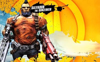 Salvador the Gunzerker ready for battle - Borderlands 2 wallpaper
