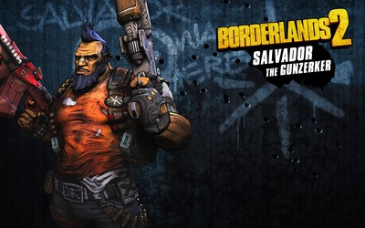 Salvador the Gunzerker with guns - Borderlands 2 wallpaper