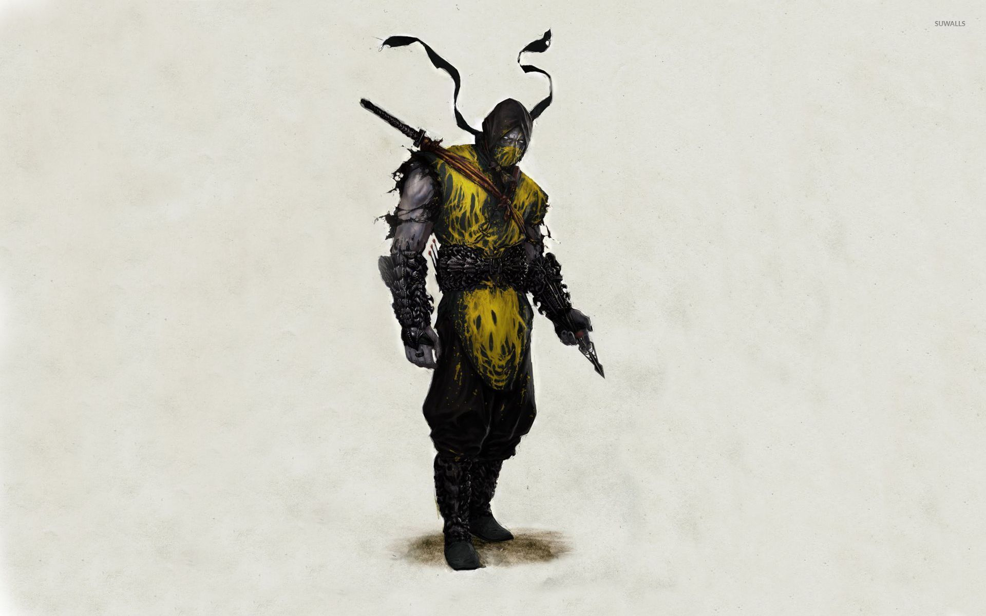 scorpion in mortal kombat wallpaper - game wallpapers - #52638